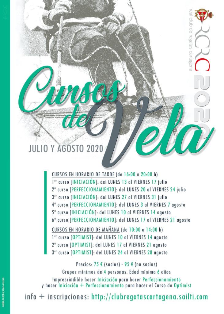 Cartel Cursos Vela verano 2020 RS