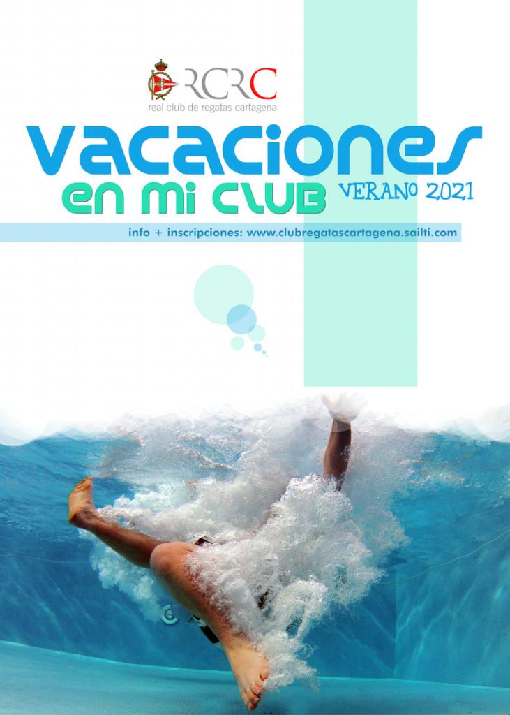 Cartel Vacaciones en mi club 2021 web