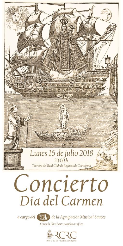 Cartel rrss Concierto Carmen 18