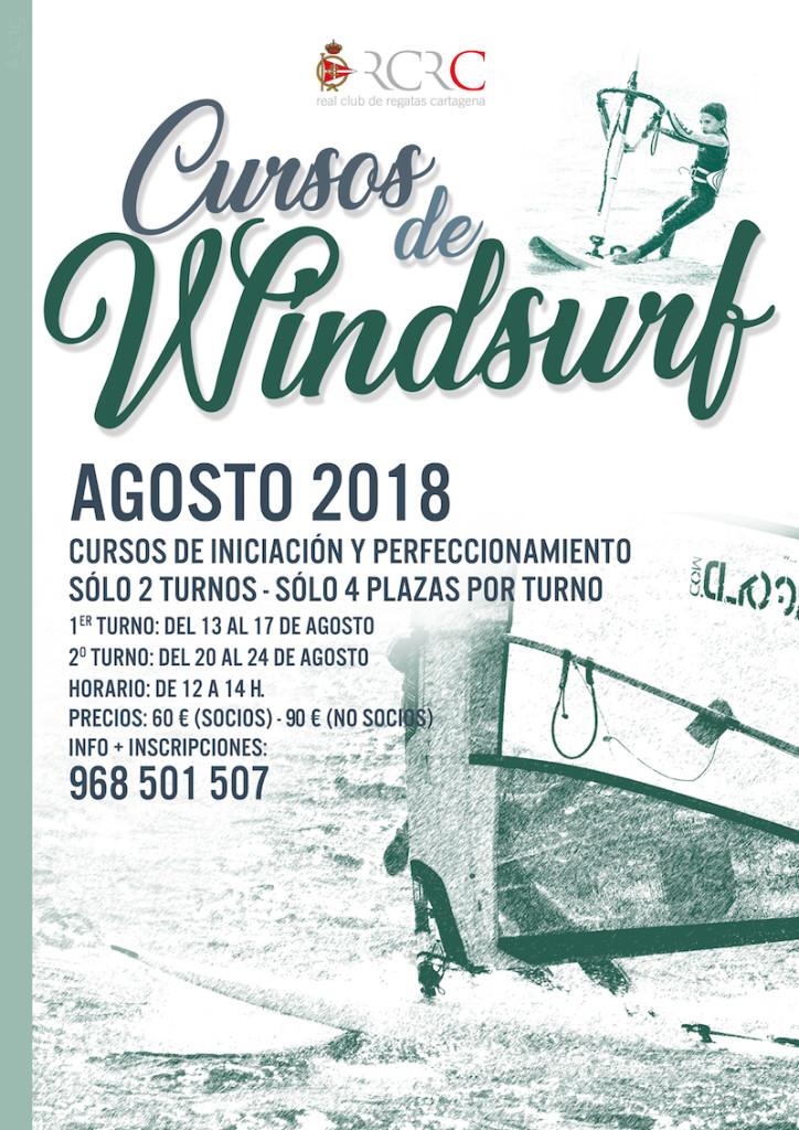 Cartel Curso Windsurf Verano 2018