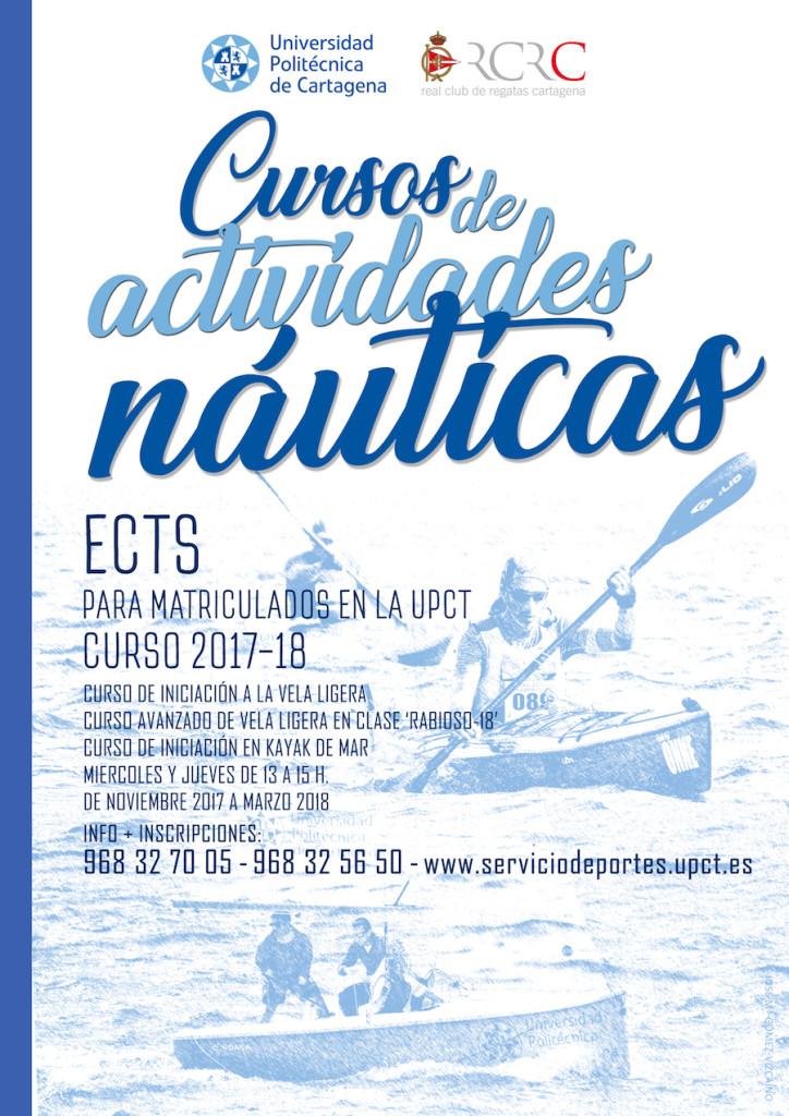 Cartel Cursos UPCT 2017-18 redes