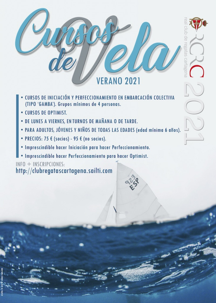 Cartel Cursos Vela verano 2021