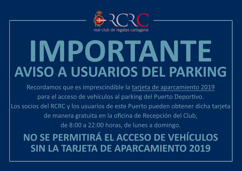 Cartel aviso parking copia