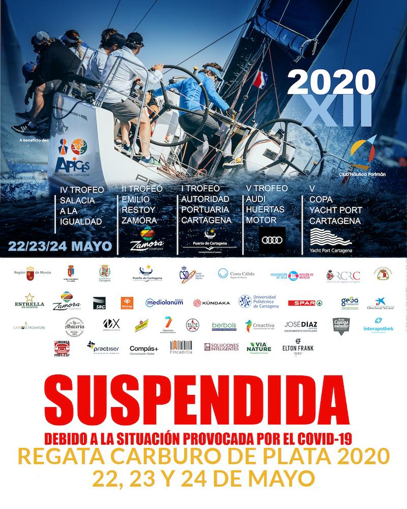 cartel Carburo 2020 suspendida